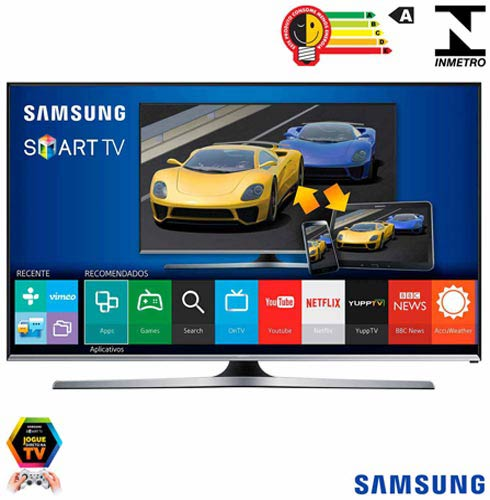 "Smart TV LED Samsung Full HD 40"" com Wi-Fi"