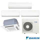 Ar Condicionado Multi Split Daikin Advance com 2 x 9.000 + 18.000 + Cassete 4 Vias 18.000 BTUs, Quente e Frio, Branco
